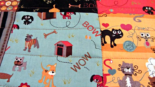 Max and Whiskers Doggie Quilt