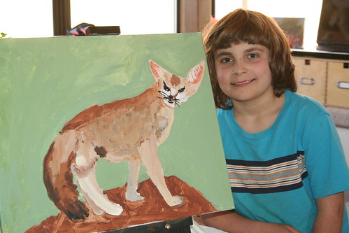 Finished Fennec Fox Painting