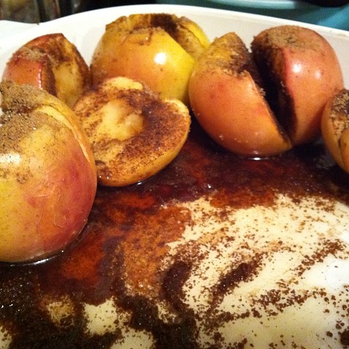 Pan of baked apples