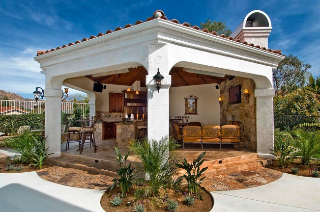 Contemporary kitchen design for small spaces - Cabanas Amp Pool Houses Cabinets To Go Small Kitchen
