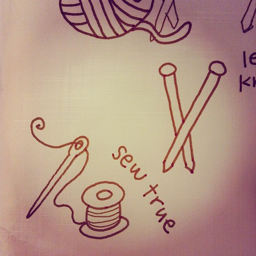 Sew true drawing.