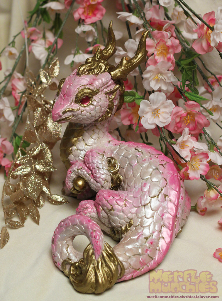Cherry Blossom Eastern Dragon