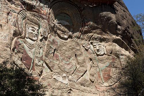 Imagenes de Buda esculpidas en la roca