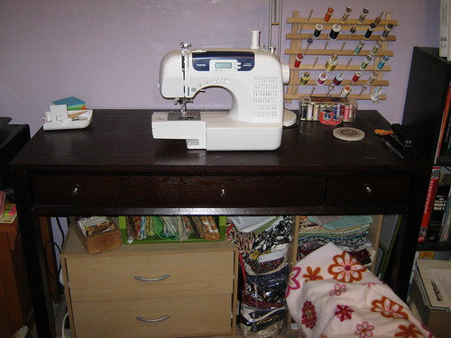 Improved sewing area
