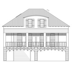 Front elevation architectual drawing