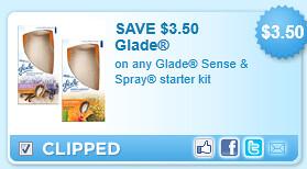 Glade Sense & Spray Starter Kit Coupon