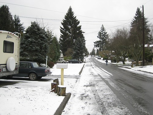 First Snow in Edmonds WA