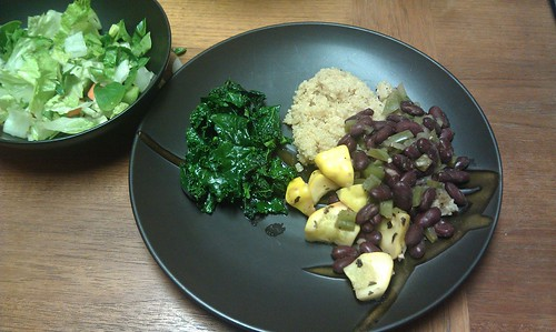 Red beans with quinoa and kale by VlinderM