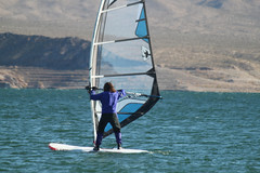 Windsurfing on Lake Mead