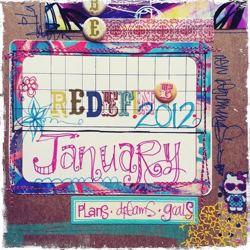 january calendar planner cover