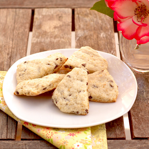 Lemon Mini-Chocolate Chip Scones