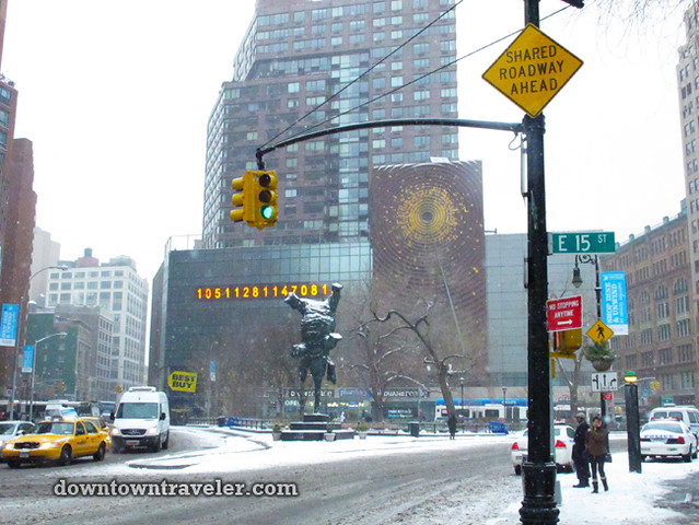 NYC Snowstorm January 2012 Union Square_2