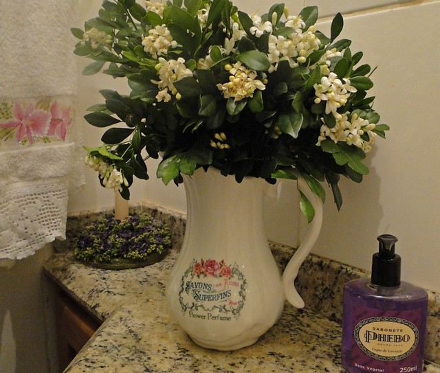 Murta perfumada no lavabo
