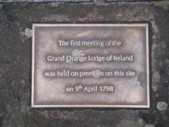 Photo of Grand Orange Lodge of Ireland brass plaque