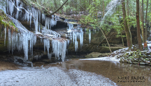 Icicles at Hocking Hills HDR