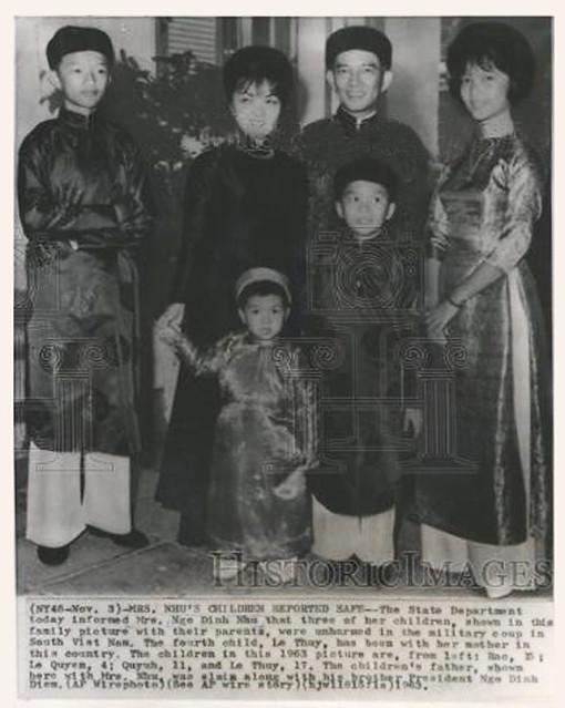 Nov. 3, 1963 -- MRS. NHU'S CHILDREN REPORTED SAFE