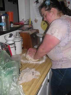 Kneading dough prep table