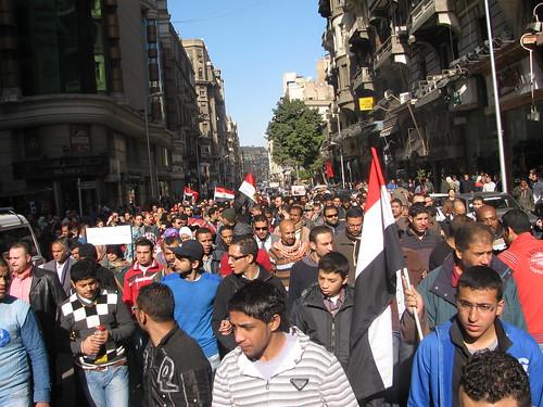 #Jan25two #Jan27 مسيره من الازهر لميدان التحرير-جمعه الغضب ٢٧ يناير