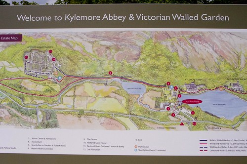 Map of the grounds & gardens of Kylemore Abbey