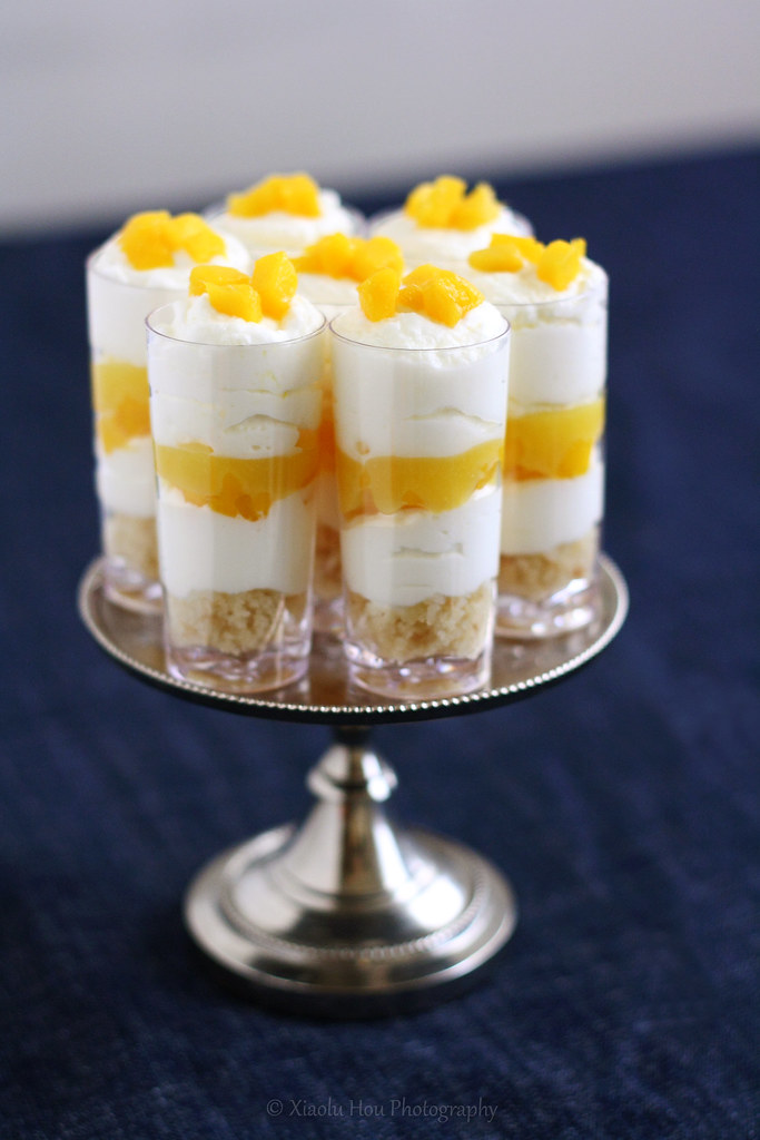 Yuzu Lemon Mango Cake Shooters