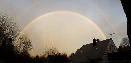 Double Rainbow ~ Sunrise