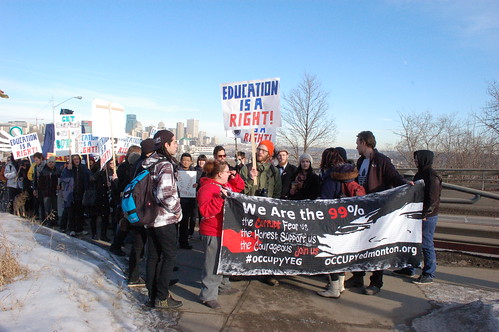 Re-Occupy Edmonton/Feb. 1 Rally Against Tuition Increases by raise my voice
