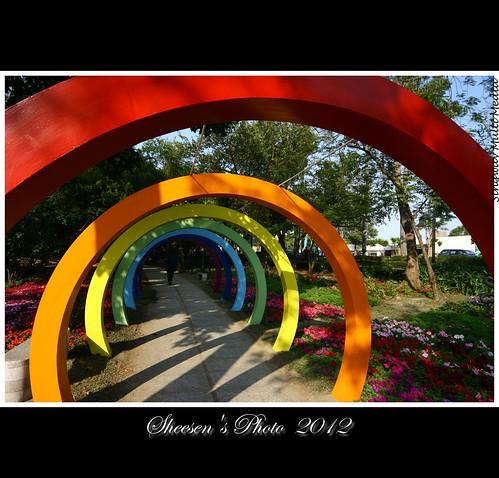 canoneos350d sigma1224mmf4556exdghsm 台南公園 20120130 畢卡索的名畫 彩虹的通道 走入圖畫裡 簡單構成 畫家的想法