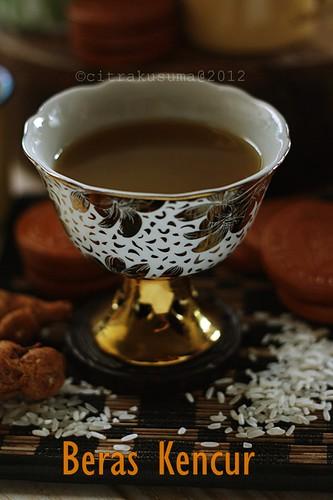A cup of Beras kencur