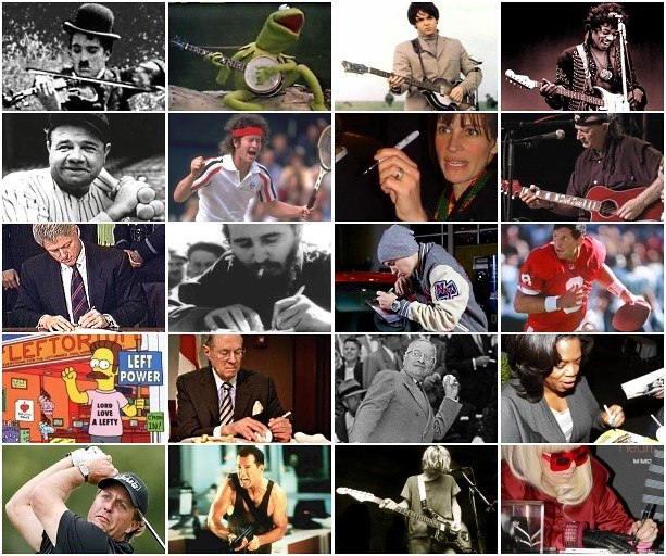 Famous Lefties Quiz