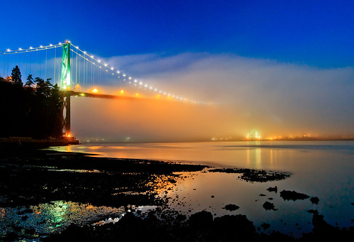 Lions Gate Bridge in Fog