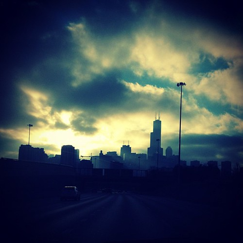 #morning #sky #clouds #sun #skyline #silhouette #city #chicago #igerschicago