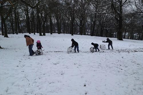 Rolling snowballs uphill...