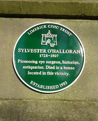 Photo of Sylvester O'Halloran green plaque