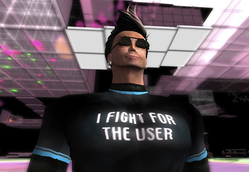 I fight for the user tee-shirt