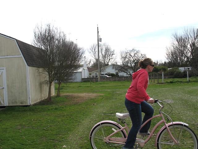 Dani riding her bike