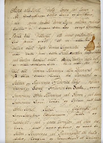 Kvenenes troskapsløfte fra Talvik i 1747, del 1.