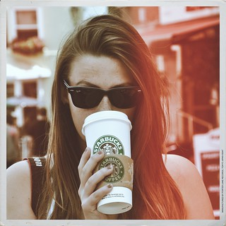 Drinking Starbucks