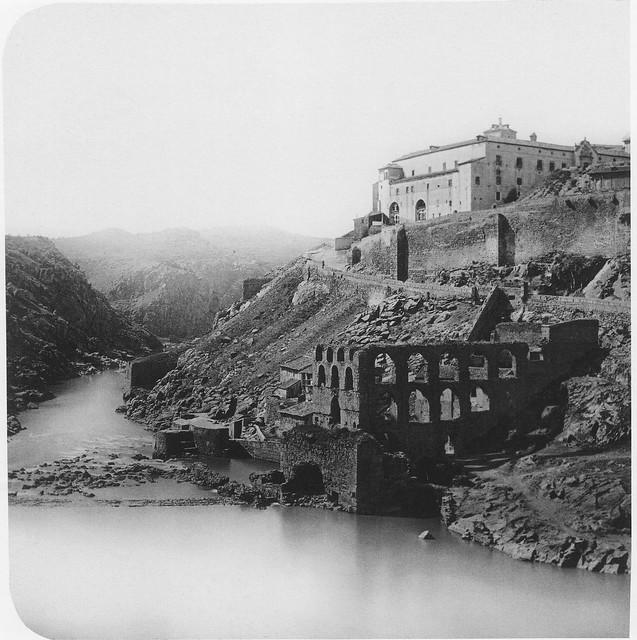 Artificio de Juanelo hacia 1857. Fotografía de Ferrier & Soulier