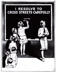 Chicago Motor Club safety poster Textbook for Schools 1932