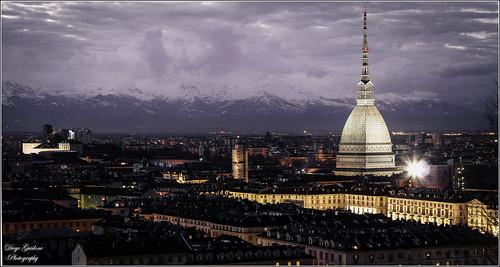 Torino e la Mole ---  Lunga esposizione