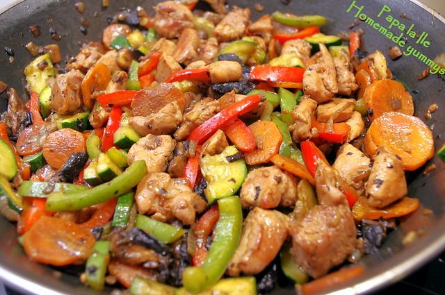 Orez cu legume si carne de curcan (8)