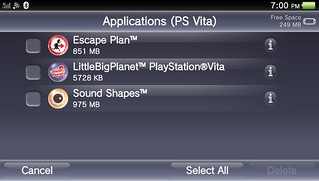 PS Vita System Software Update 3.10