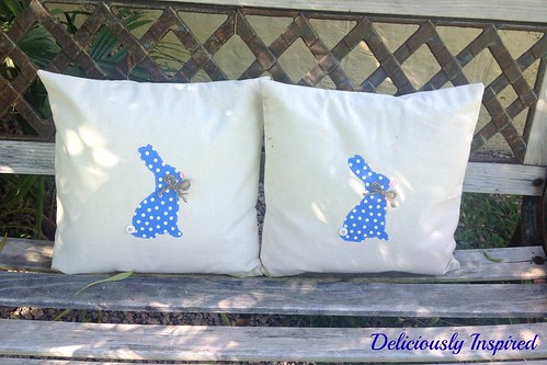 Bunny Pillows - bench