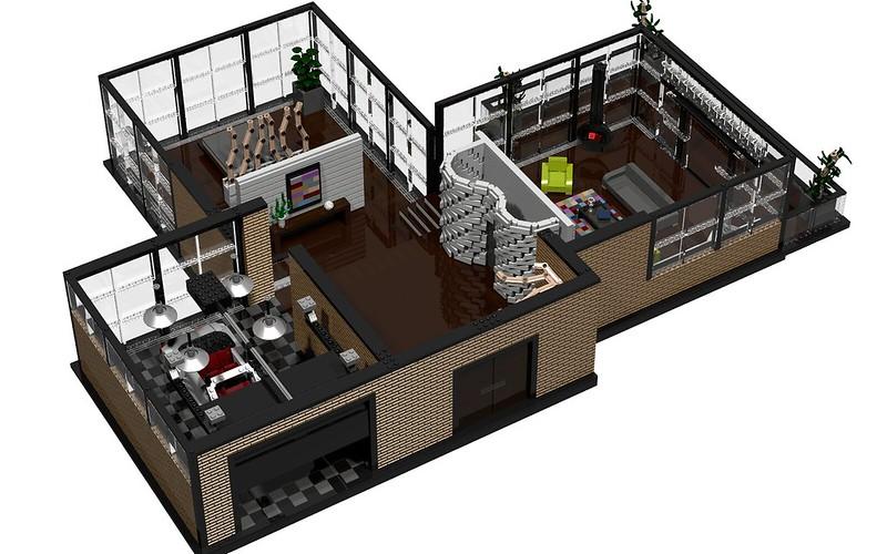 LDD Contest] My Dream Home - Modern House - LEGO Town - Eurobricks on microsoft house designer, home designer, lego building,