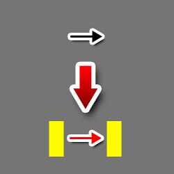 矢印の左右に半角スペース