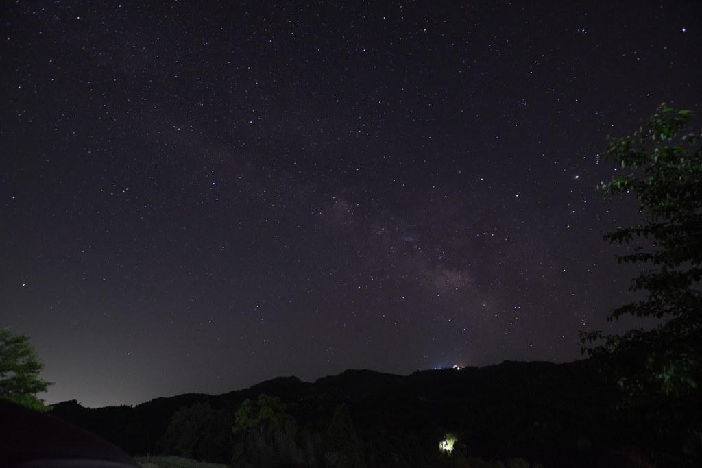ISO1250で撮影した天の川
