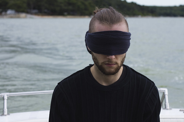 Danijel Šivinjski blindfolded in Novigrad