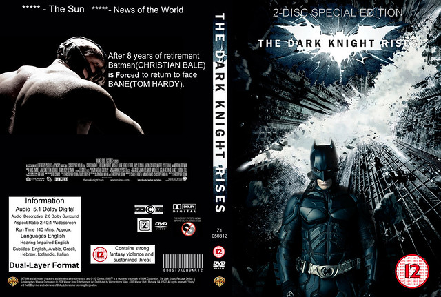 Dark Knight Rises Dvd Cover Batman Dark Knight Rises Dvd