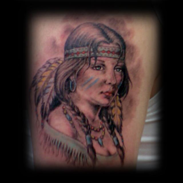 Erdoğan Çavdar Dövmeleri - Kızılderili Dövmesi / Indian Tattoo