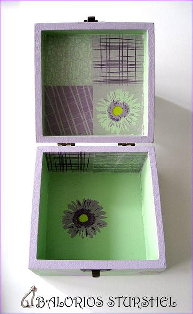Caja Decoupaje Lila&Verde 2